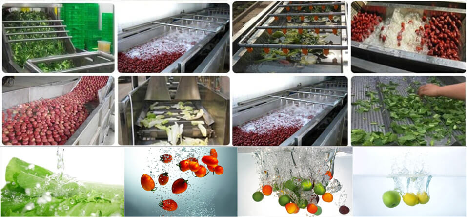 what food materials can be washed by bubble vegetable cleaning machine